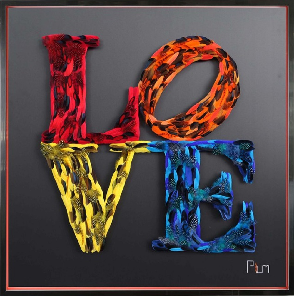 LOVE - TRIBUTE TO INDIANA - PLUM - Pop Art