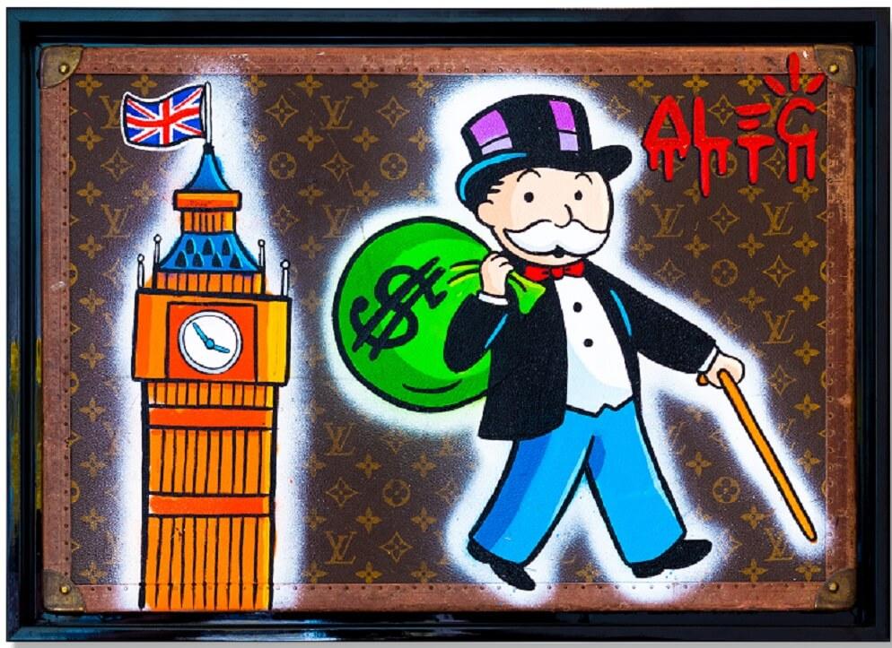 MONOPOLY $ BAG + BIG BEN TRUNK - Alec Monopoly - Celebrating International Artists Day