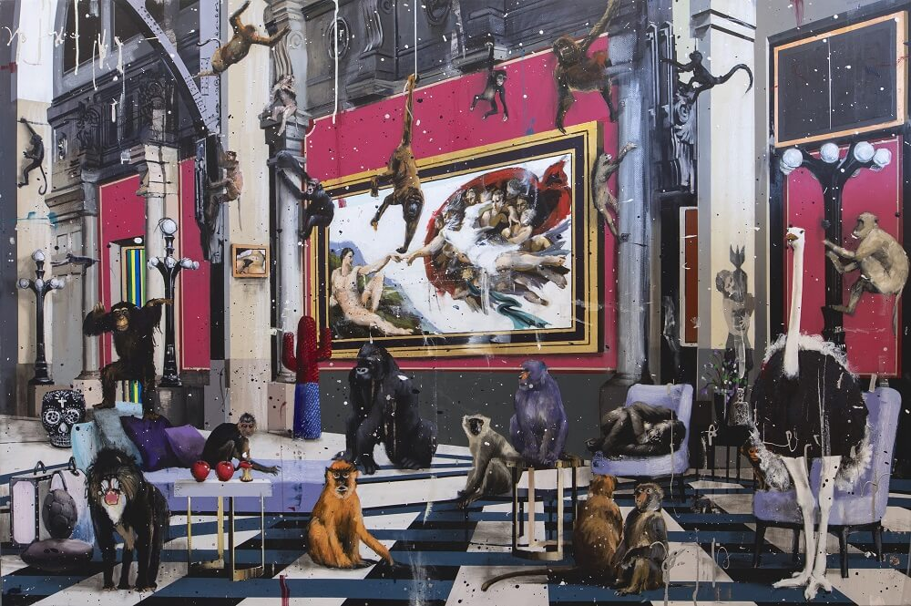 Angelo Accardi- All These Monkeys- Celebrating International Artists Day