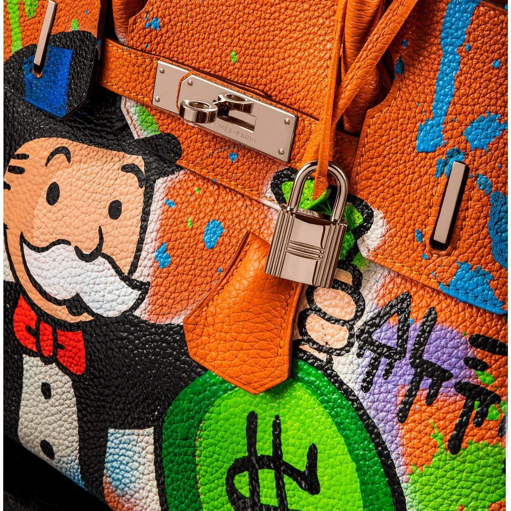 HERMES BAG -MONOPOLY HOLDING MONEY BAG