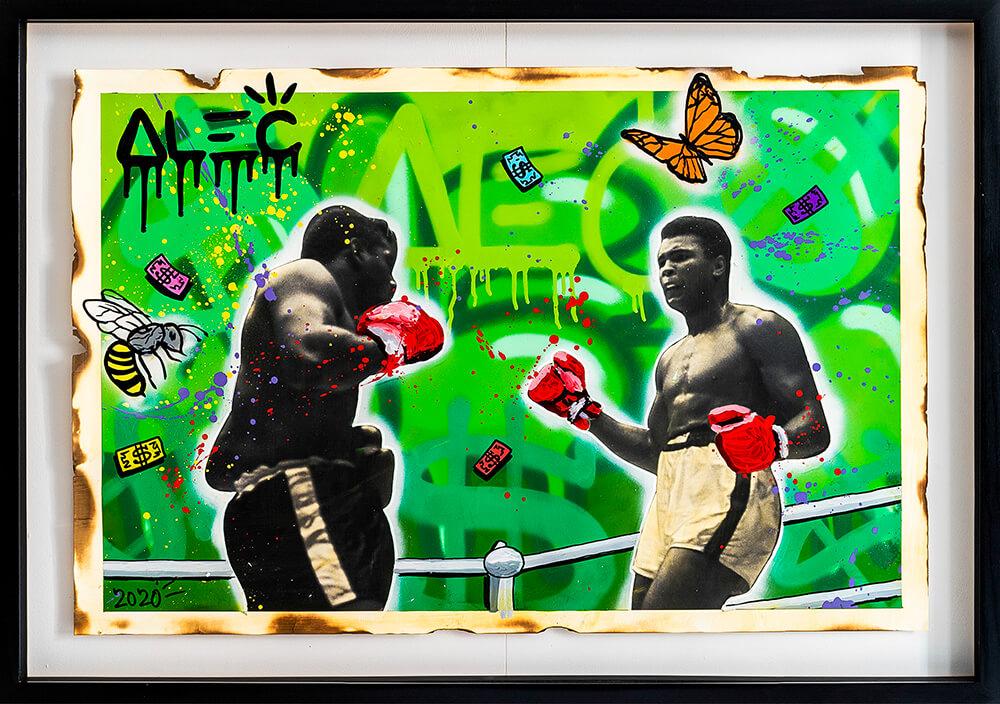 Alec Monopoly - Ali Boxing BW 9 - Eden Gallery