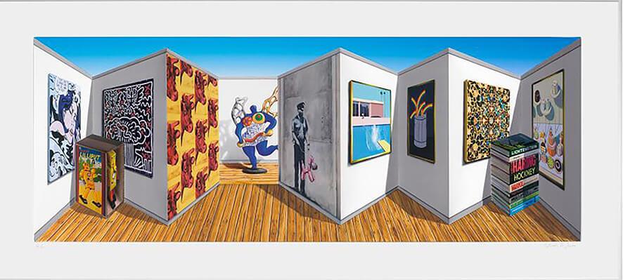 Patrick Hughes Art - Eden Gallery - Poppish