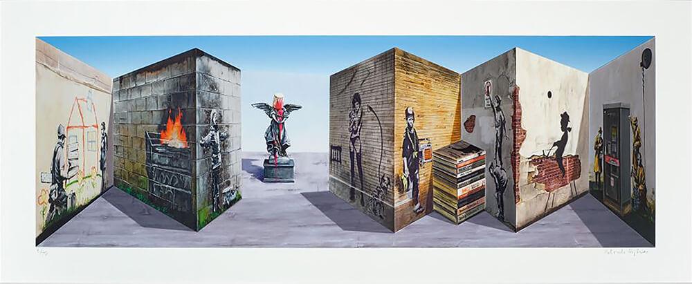 Patrick Hughes Art - Eden Gallery - Banksee