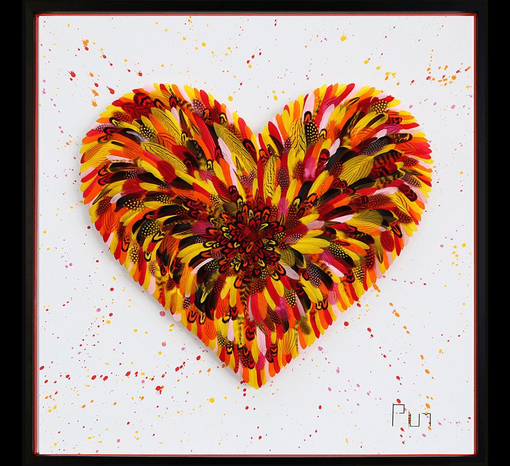 Sweet Little Jungle Love Orange - Plum - Eden Gallery