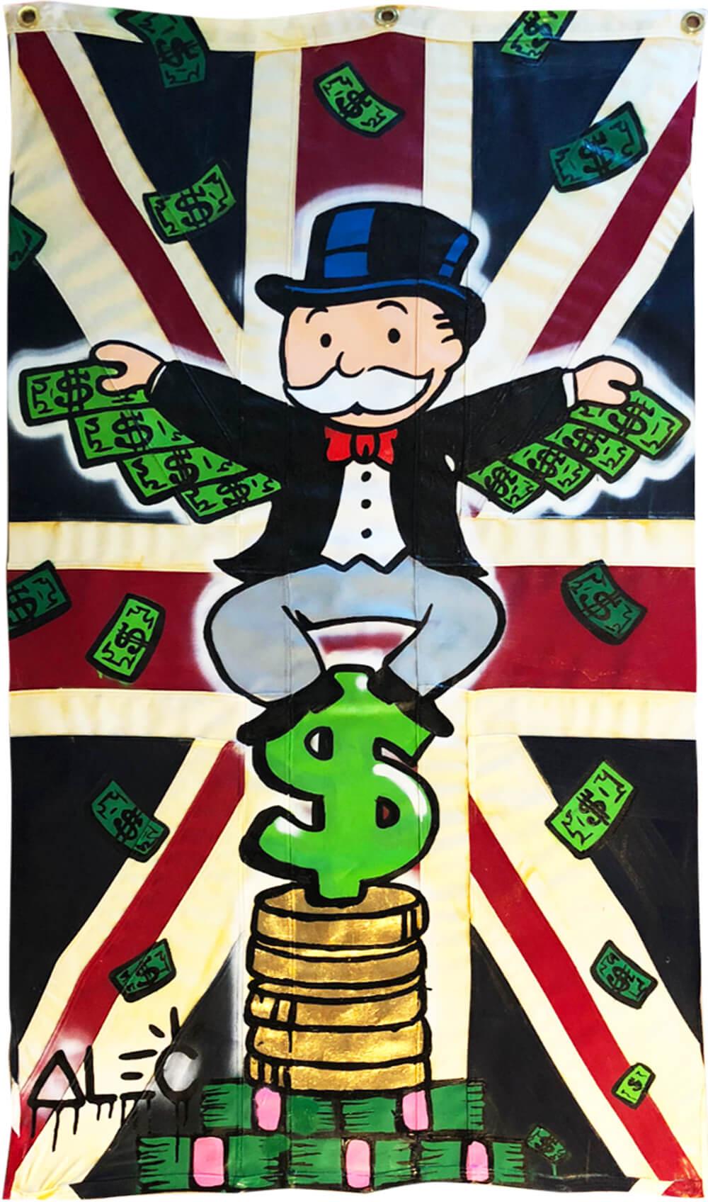 Monopoly Money Wings On UK Flag - Eden Gallery