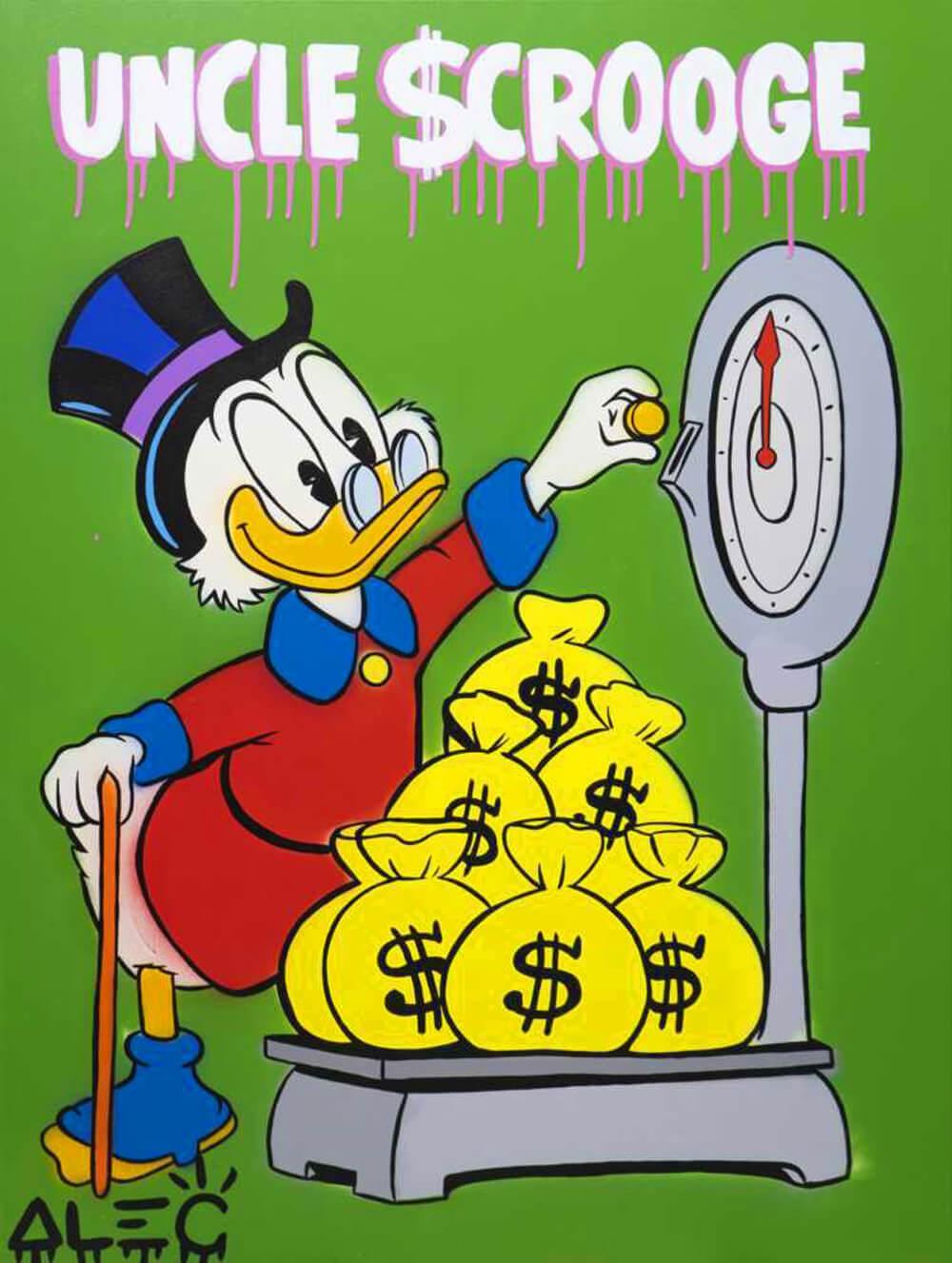 Uncle Scrooge Weighing Bags - Eden Gallery