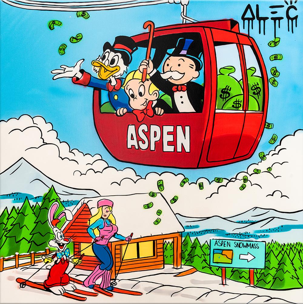 Eden Gallery - $ Team in Aspen Ski Gondola