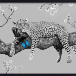 drawing cheetah SN art black and white photography