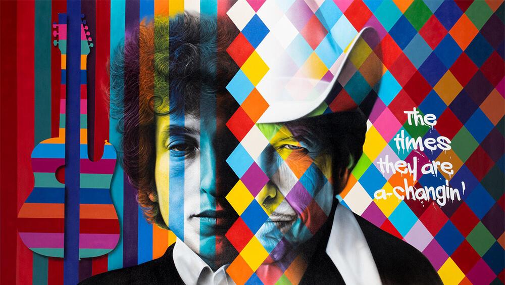 Bob Dylan - Eduardo Kobra -Eden Gallery