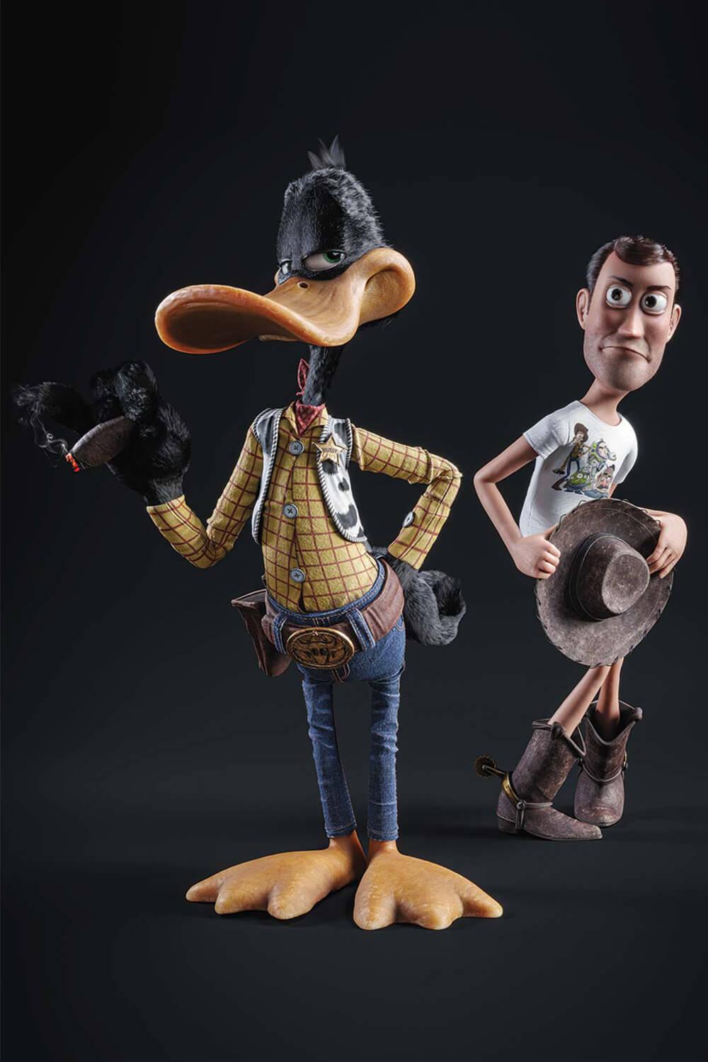 Daffy Duck Woody - Gal Yosef - Eden Gallery