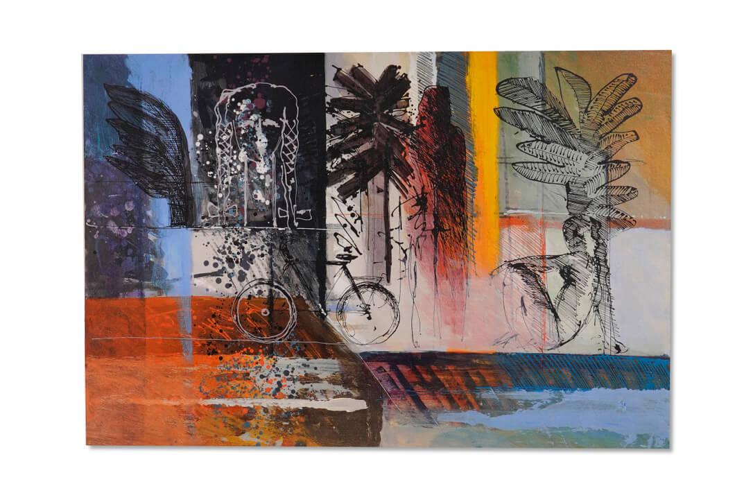 calman shemi art painting watercolor dark colors