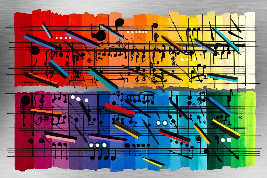 calman shemi notes paintings rainbow art music notes