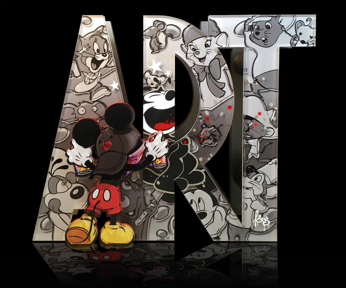 ART sculpture Mickey mouse graffiti art