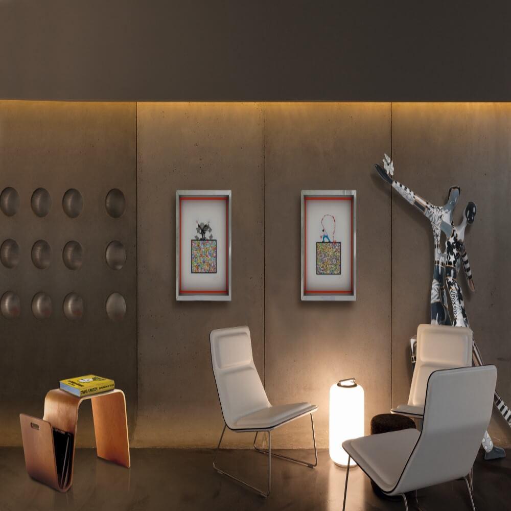 david kracov dorit levinstein shadow box sculpture art vs design